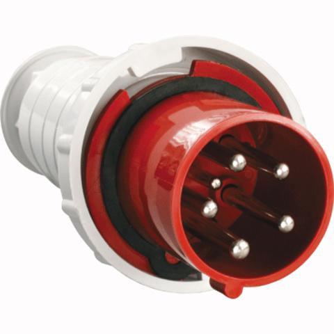 Вилка 045 3Р+РЕ+N 125А 380В IP54 TDM