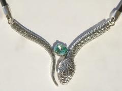 Кобра (кольцо + серьги из серебра)