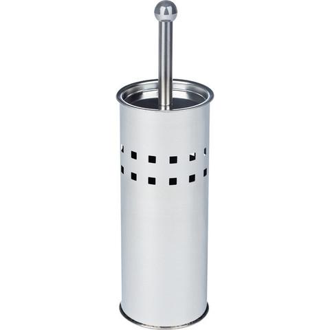 Ершик для унитаза Solinne напольный с подставкой из металла цилиндрический серебристый