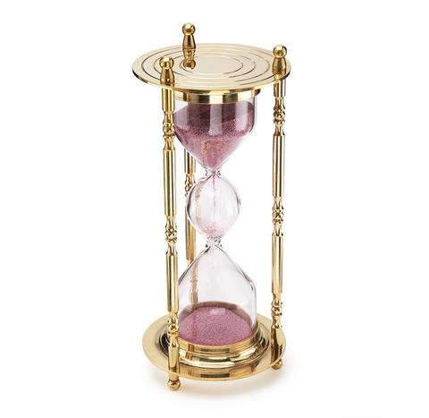 Большие песочные часы из латуни