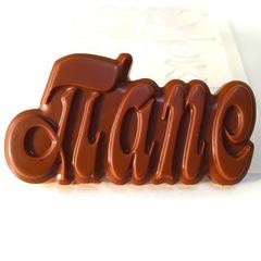 Пластиковая форма для шоколада надпись прописными буквами 5см БОССУ