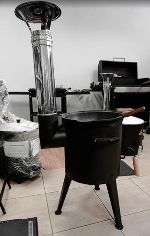 Печь для казана Granada Premium с трубой 22 литра
