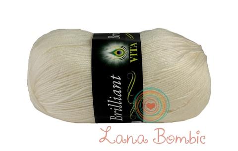Пряжа Vita Brilliant белый 4951