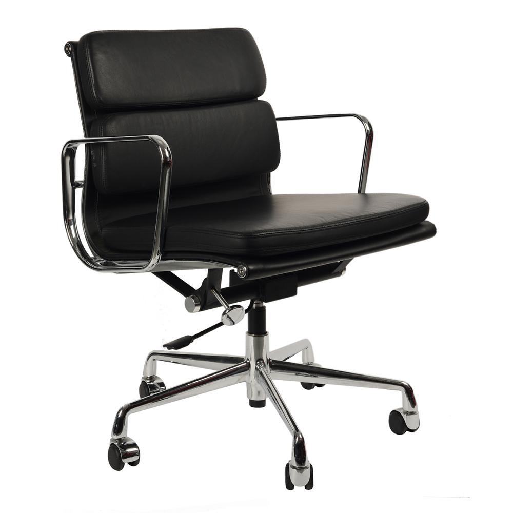 Кресло Eames Style Soft Pad Office Chair EA 217 черная кожа - вид 1