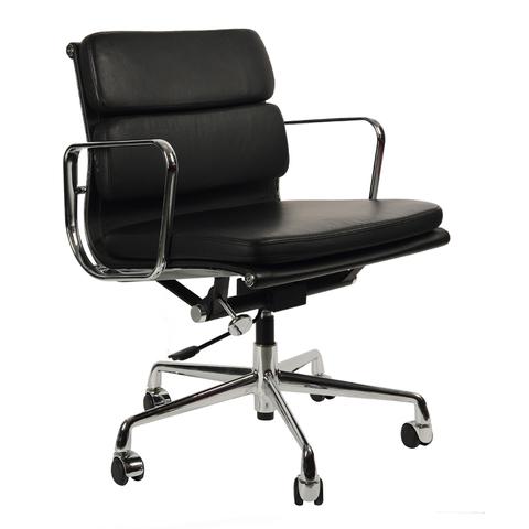 Кресло Eames Style Soft Pad Office Chair EA 217 черная кожа