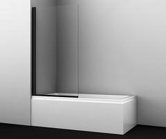 Шторка для ванны WasserKRAFT Berkel 48P01-80BLACK распашная, черный профиль