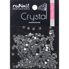 ruNail, Стразы серебряные (2 мм), 288 шт