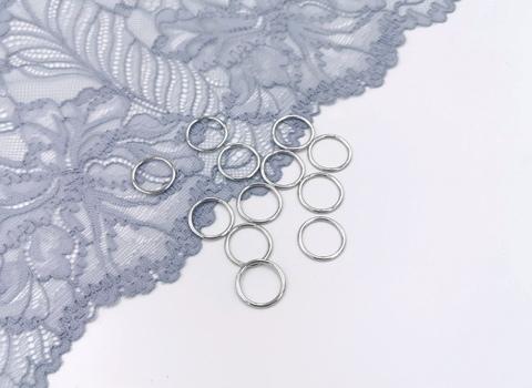 Кольца, 15 мм, металл, серебро, премиум-класс, (Арт: КО/15-PS), шт