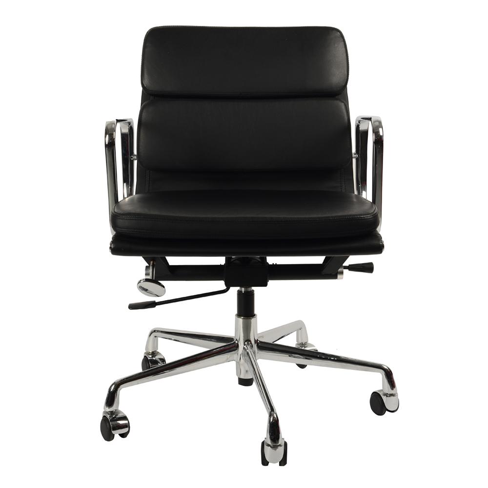 Кресло Eames Style Soft Pad Office Chair EA 217 черная кожа - вид 2
