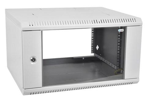 Шкаф ЦМО ШРН-Э-18.350 телекоммуникационный настенный разборный 18U (600 × 350) дверь стекло