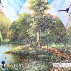 Стильный зонт Lamberti by S.Nikas «Сон о райских птицах в туманном лесу»