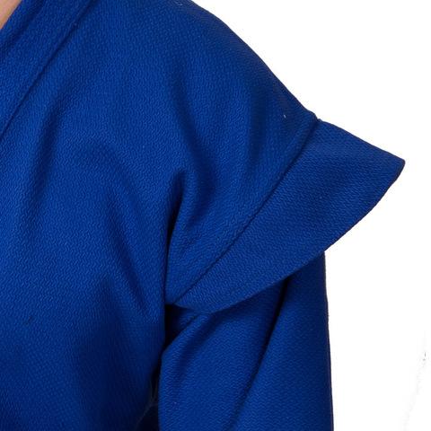 Кимоно самбо 140см (куртка,шорты,пояс) цв. синий (Дан) (31941 синий)