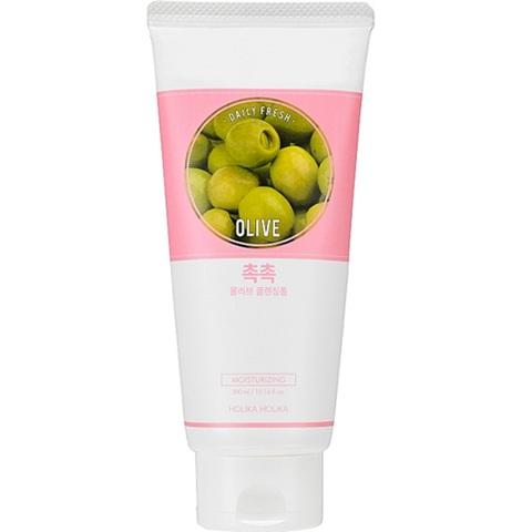 Holika Holika Daily Fresh Olive Cleansing Foam увлажняющая пенка с оливой