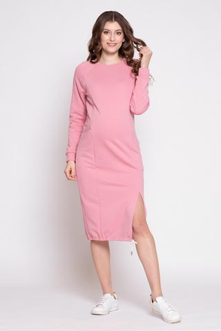 Платье для беременных и кормящих 12356 розовый