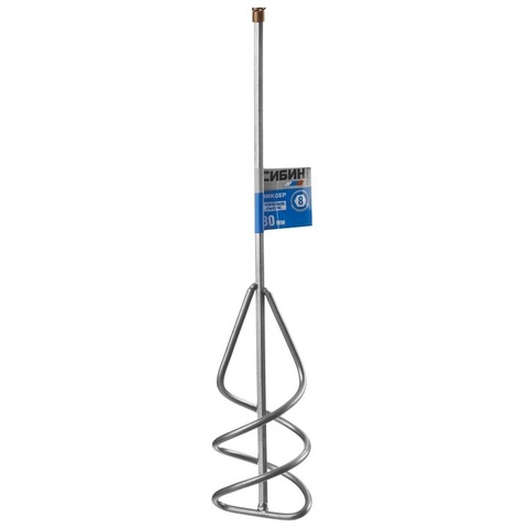 Миксер СИБИН для песчано-гравийных смесей, шестигранный хвостовик, 80х400мм