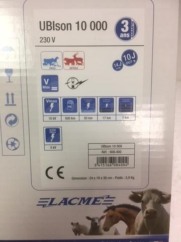 Электропастух Ubison 10000 от сети 220v фирмы Lacme (Франция).