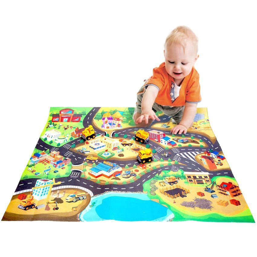Товары для детей Развивающий коврик для детей «Стройка в городе» DE_0156-2.jpg