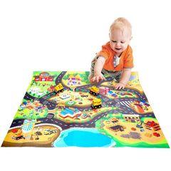 Развивающий коврик для детей «Стройка в городе»