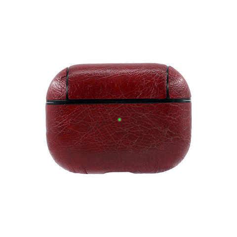 Чехол для Airpods Pro под кожу Protective Case (Красный)