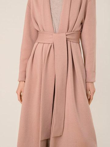 Женский кардиган бежево-розового цвета из 100% шерсти - фото 5
