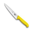 Нож Victorinox разделочный, лезвие 15 см, желтый