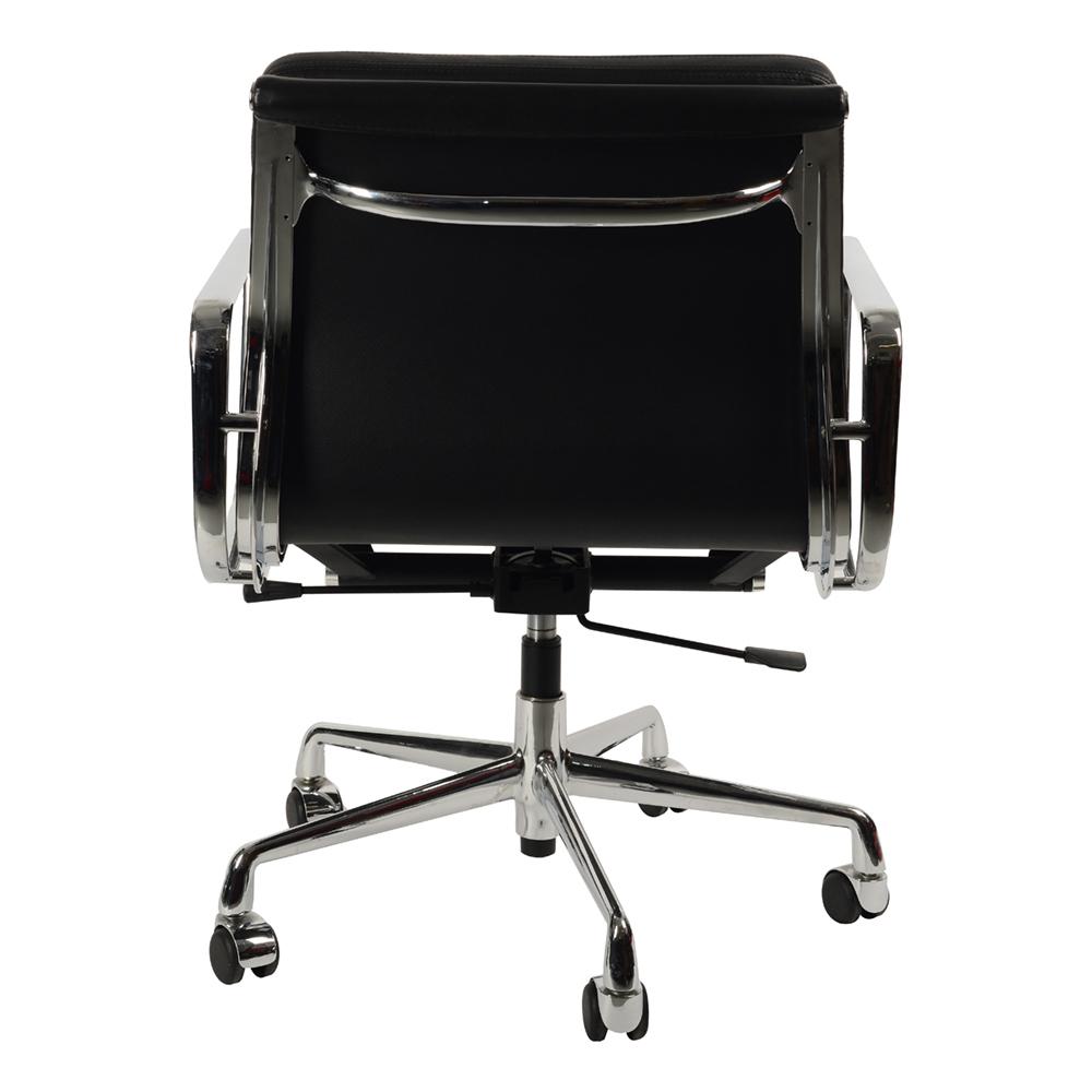 Кресло Eames Style Soft Pad Office Chair EA 217 черная кожа - вид 4