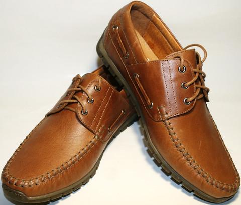 Кожаные туфли мокасины мужские Ikos