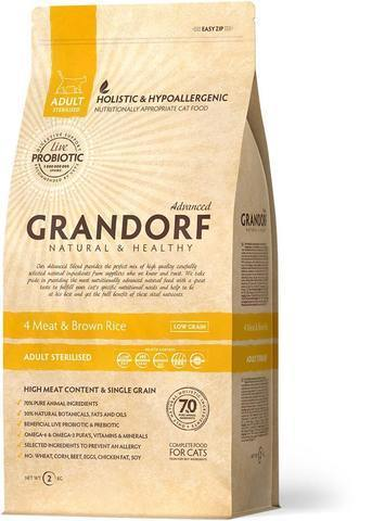 Grandorf 4 Meat & Brown Rice Adult Sterilised