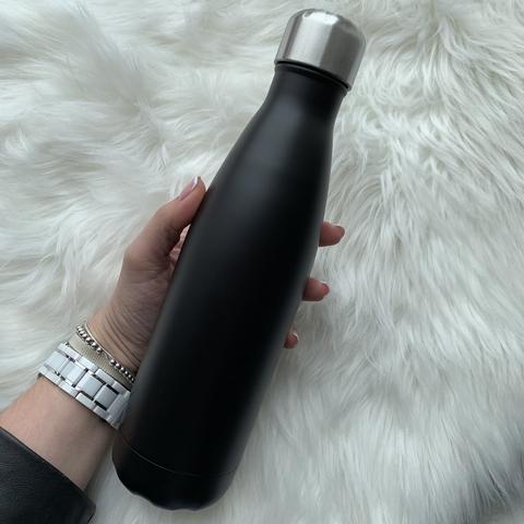 Бутылка для воды 500 мл /матовый черный/