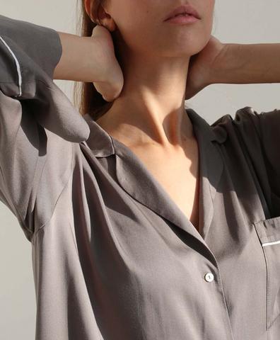Пижамная рубашка серая