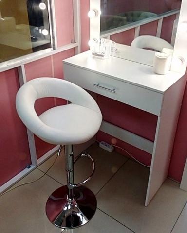 Сиденье для барного стула Mira/Мира, экокожа, белое (сидение)