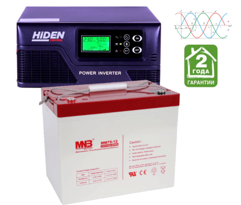 Комплект ИБП HPS20-0612-АКБ MM75 (12в, 600Вт)