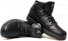 Мужские ботинки кроссовки зимние Nike Air Jordan 1 Retro High Winter BV3802-945 All Black