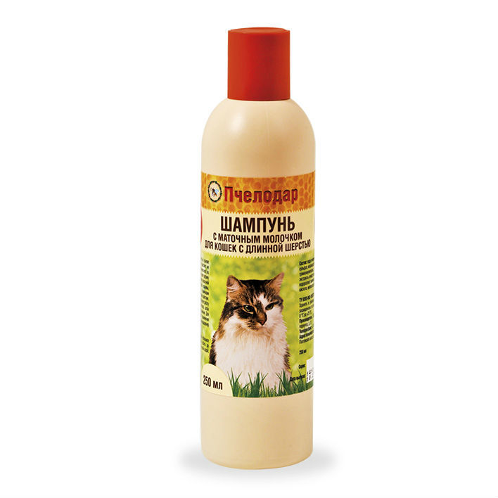 шампунь Пчелодар с маточным молочком для длинношерстных кошек