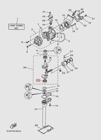 Подшипник коленвала  для лодочного мотора T3 SEA-PRO (2-29)