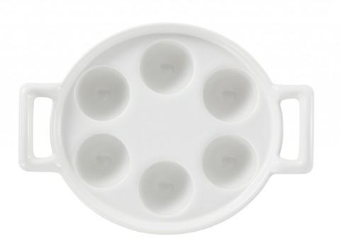 Фарфоровое блюдо для улиток, белое, артикул 614856, серия Belle Cuisine
