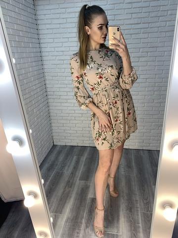 летнее платье на резинке на талии купить