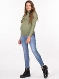 Джинсы для беременных (SKINNY) 09321 синий