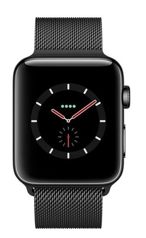 Watch S3 Cellular 42mm Space Grey Stainless Steel Case with Milanese Loop