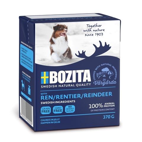 Bozita Reindeer Консервы для собак с оленем, кусочки в желе