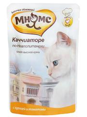 Паучи для кошек Мнямс Каччиаторе по-Неаполитански (курица с томатами)