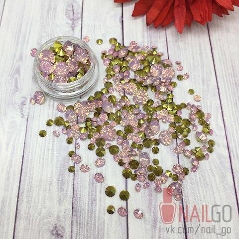 Стразы Opal Rose MiX конусные