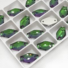 Стразы пришивные форма Hexagon Гексагон, цвета Emerald в интернет-магазине