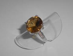 Кольцо с дымчатым кварцем виски, p.17,3