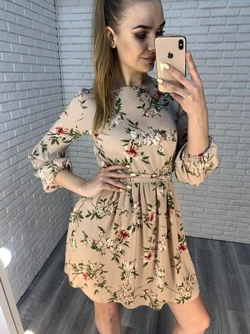 летнее платье на резинке на талии nadya