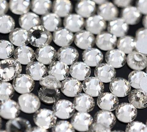 Стразы серебряные (пластик)