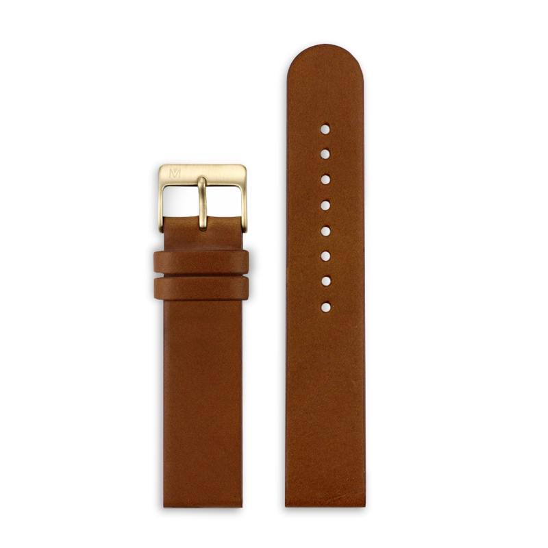 Maven Strap Brown Leather / Gold