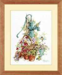 LANARTE Water Pump and Birds (Колонка в цветах)