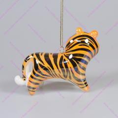 Фарфоровая ёлочная игрушка Тигр