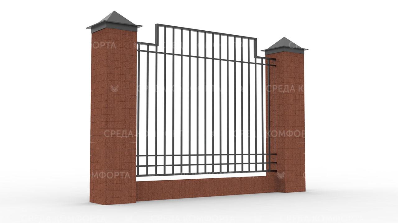 Забор из профильной трубы ZBR0156